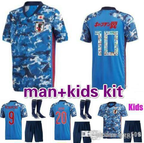 2020 Japan home Soccer Jersey #4 HONDA 20/21 national team soccer Shirt #10 KAGAWA #9 OKAZAKI Men football uniforms