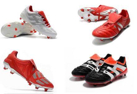 Classics predador Precision Accelerator Eletricidade mania FG DB 5 Beckham torna-se 1998 botas Homens futebol Sapatos chuteiras de futebol Tamanho 39-45