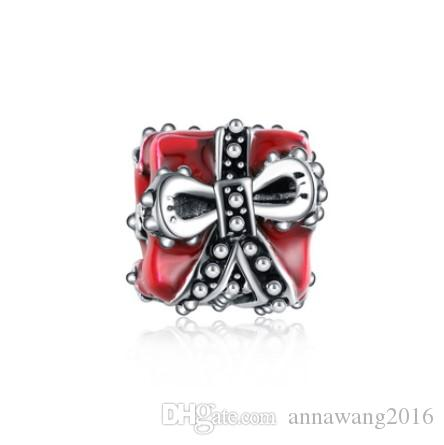 Gift Bag Silver Plated Skull Spacer Bead Charm fits European Charm Bracelets
