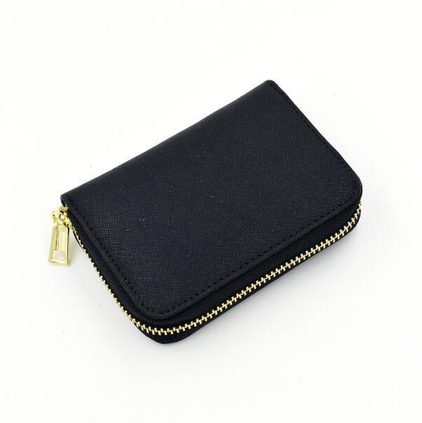 Hot 4 couleurs dame petits portefeuilles femmes mode casual dames portefeuille fermeture à glissière unique portefeuilles sac à main en cuir femme avec carte sac à poussière boîte