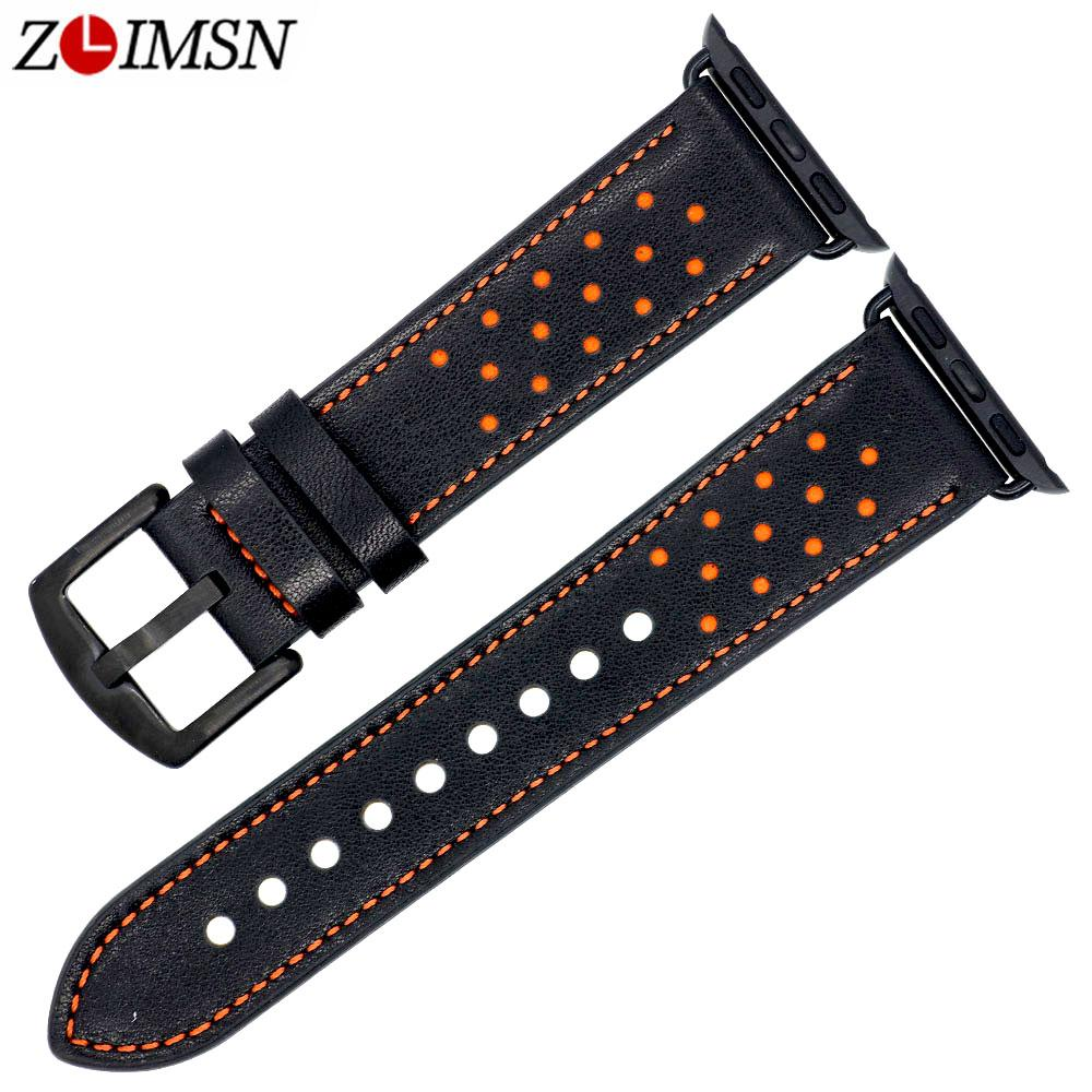 Venda Por Atacado novo design de pulseiras de relógio de couro genuíno acessório pulseira adequado para a apple watch band 38mm 42mm series 1 2