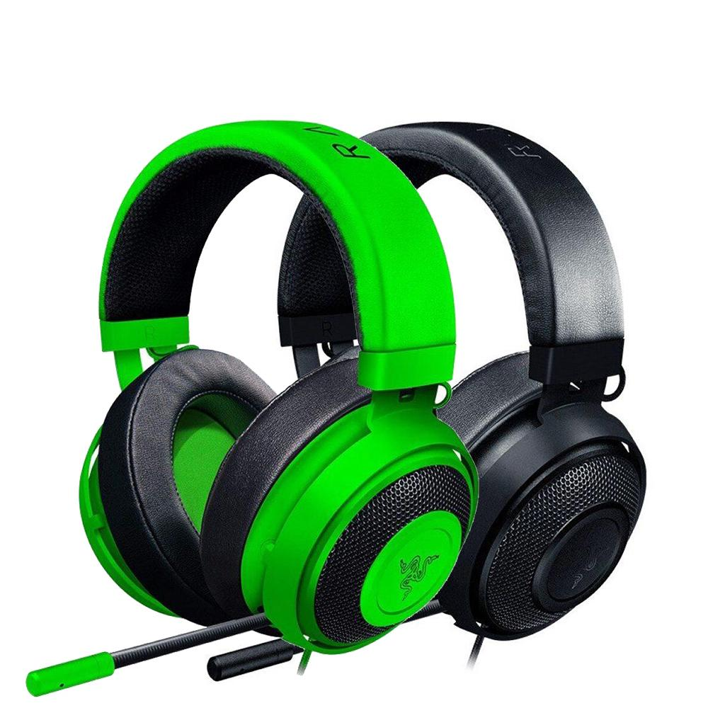 Razer Kraken 2019 New Version Gaming Headset 3.5mm Wired Headphone with Microphone Noise Cancelling Cooling Earcup Cushions T191130