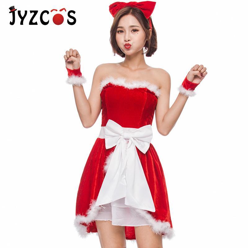 테마 의상 2021 일본인 및 한국어 크리스마스 의상 선물 파티 소녀 롤 플레잉 유니폼 유혹