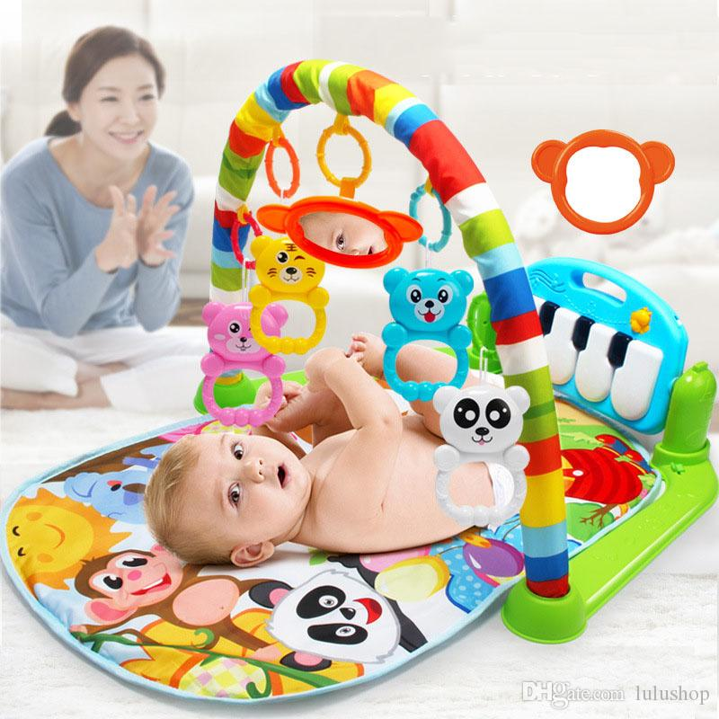 Bebê jogar tapete kids tapete de enigma educacional tapete com piano teclado e cute animal playmat baby gy gym rastreamento de atividade tapys 4,8 1158 re