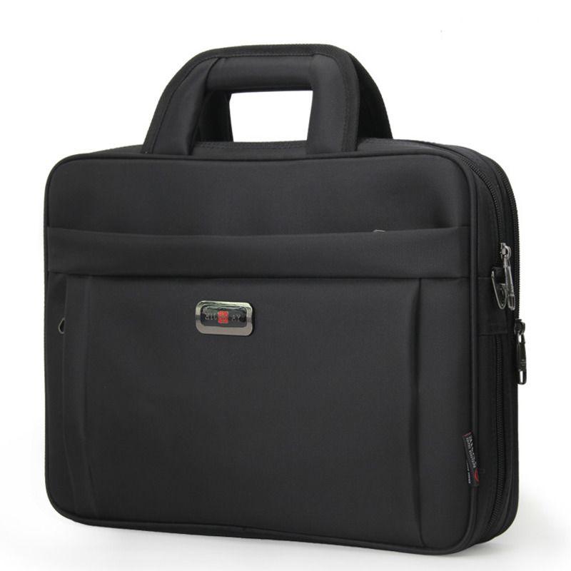 Alta qualidade Unisex pasta preta Luxo 13,3 14 15,6 polegadas Laptop bolsa de ombro mulheres Escritório BOLSAS PARA HOMENS Bolsa de Negócios 2020