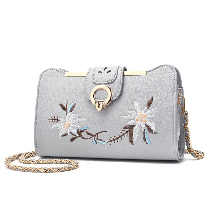 Lady Hot Sale Embroidery Handbags for Women Ladies Flower Purse Casual Clutch Girls Crossbody Shoulder Messenger Bags K2873