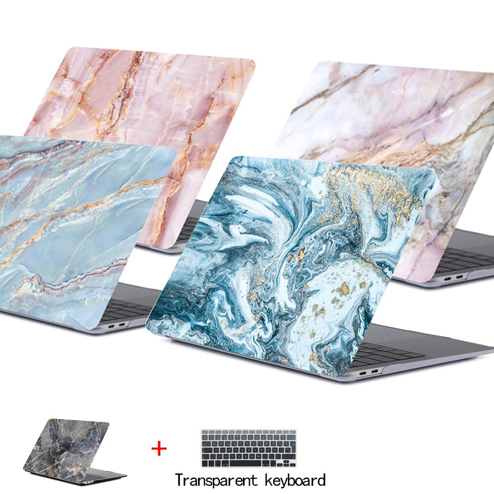 Marble Laptop Case for Macbook Touch ID Air 13 A1932 Pro Retina 12 13 15 A2159 New Touch Bar For Macbook Air 13 +Keyboard Cover