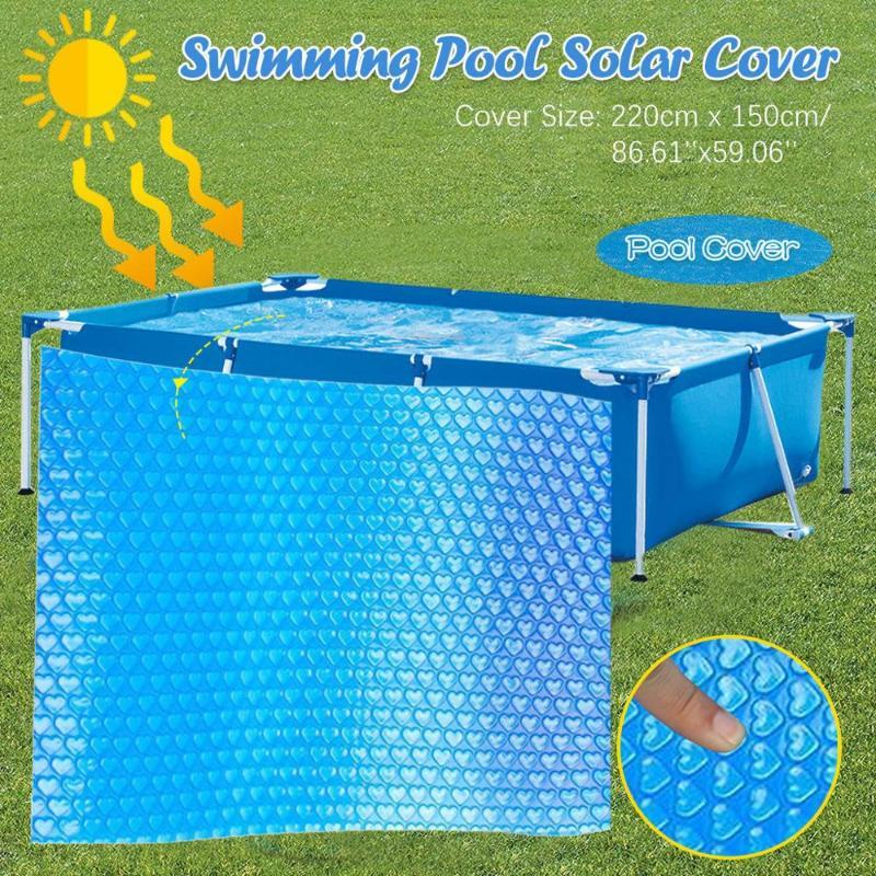 Piscina cubierta protectora de pie por encima de la tierra azul de la protección de la piscina de natación accesorios F @