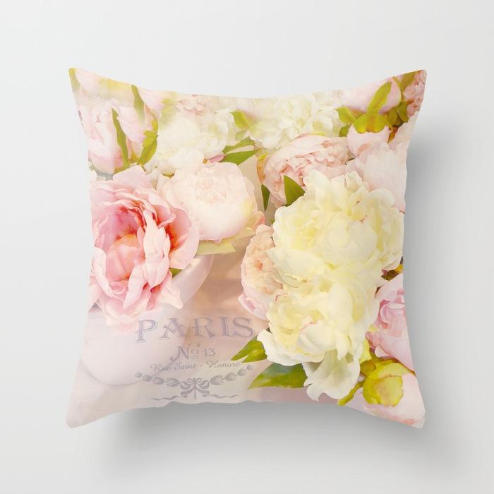 Federa Rosa Fiore modello Cuscino in poliestere Divano decorativi per la decorazione domestica 45x45cm Peach Velvet Pillow 14styles RRA2908