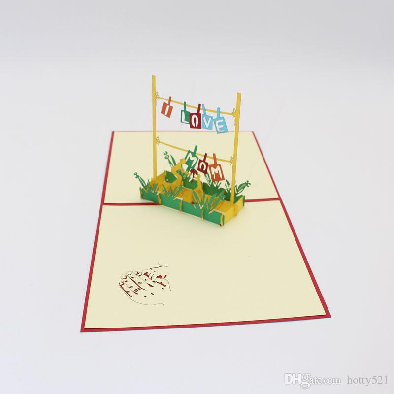 Awe Inspiring New 3D Pop Up Thank You Mom Greeting Cards Happy Birthday Personalised Birthday Cards Veneteletsinfo
