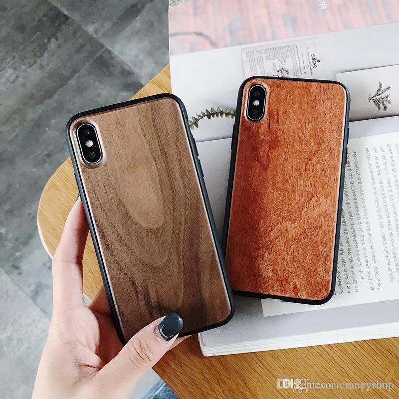 الخشب الطبيعي الهاتف القضية للحصول على 11 برو ماكس ضد الصدمات حماية كاملة الغلاف الخلفي للحصول على اي فون X XS MAX XR الخيزران خشبية كوكه