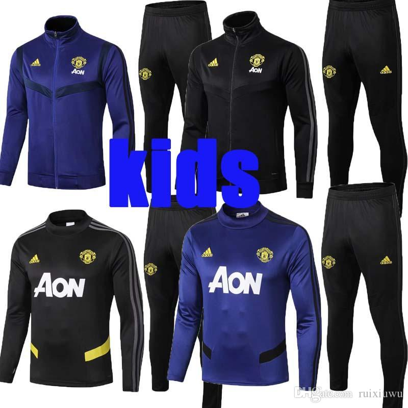 2020 Manchester 19 20 New De Gea Kids Jacket Tracksuit 2019 2020 Pogba Youth Soccer Jersey Man United Child Long Sleeve Training Kit Shirts From Ruixiuwu 33 17 Dhgate Com