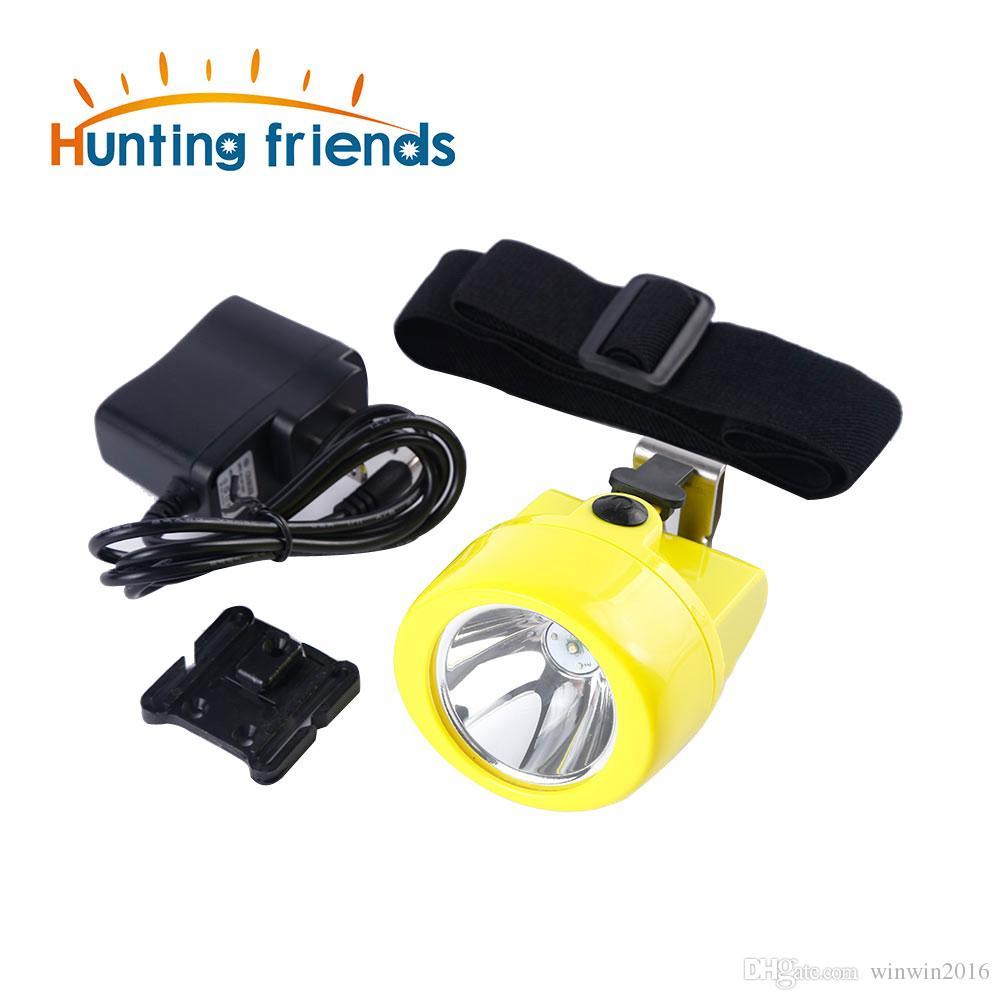 Hunting friends Wireless Mining Headlamp KL3.0LM Waterproof Mining Cap Lamp Explosion Rroof Mining Light Rechargeable Flashlight Headlamp