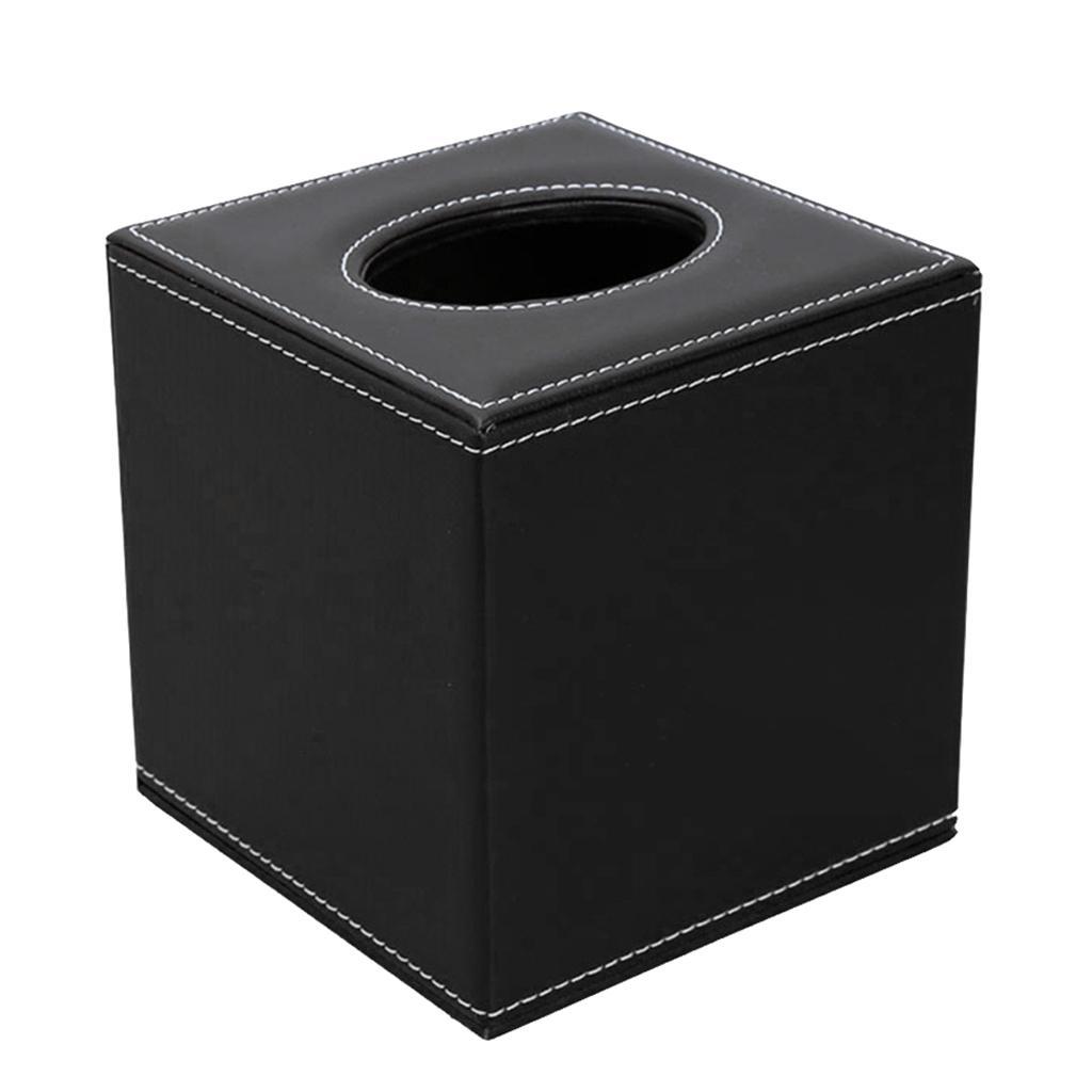 Platz Aufsatz- Tissue Box-Halter-Papier-Serviette-Kastenabdeckung PU-Leder