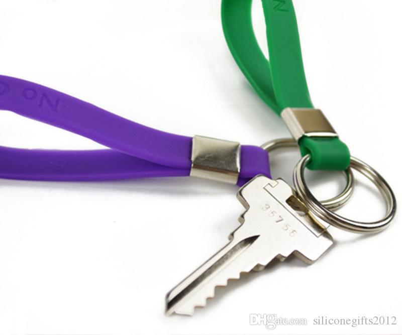 무료 디자인 실리콘 키링 고무 키 홀더 항목 번호 Gifts0099 선택하여 선택할 다른 색상