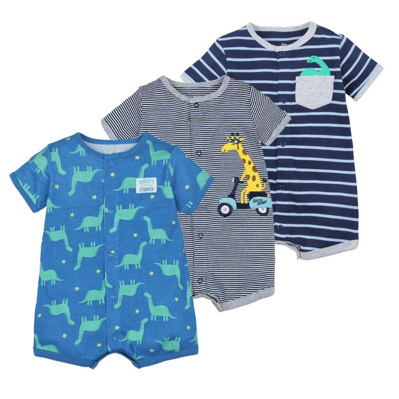 2020 Летняя детская одежда мальчиков хлопка Комбинезон короткий рукав Roupas Menino для костюмов Baby Boy Body, 0-24М дети ползунки
