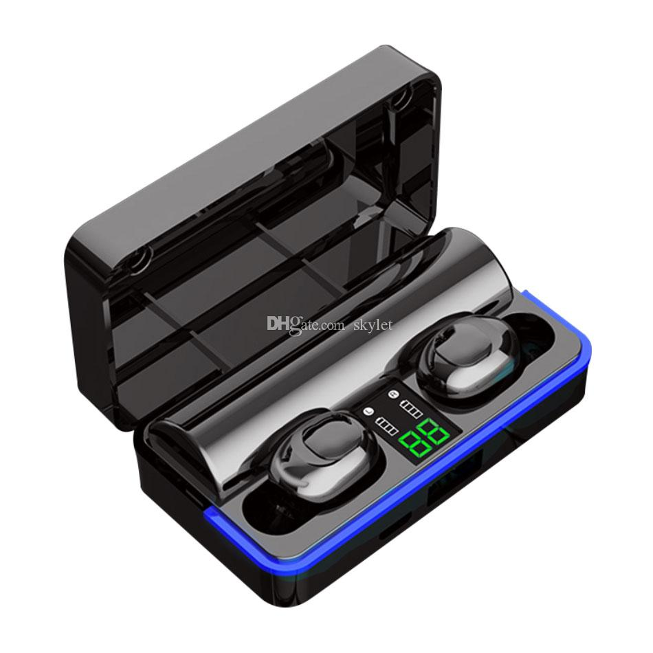 W12 Bluetooth Earphones 6D Stereo Sport Headset TWS Wireless Headphones with Mic Charging Box LED Display with Retail Box