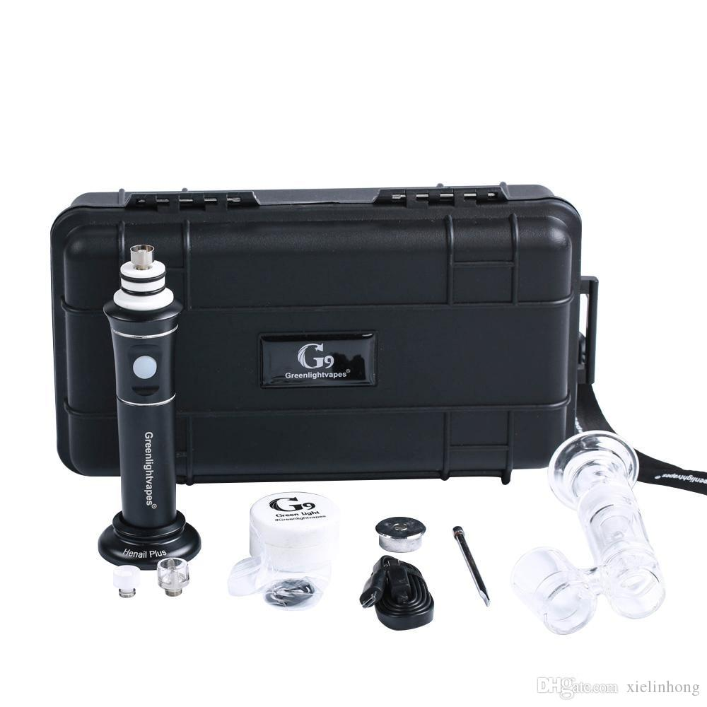 Hot sell Portable Dnail Dabtime Wax Pen Henail Plus Carb Cap Magnetic Dabber 2500Mah 18650 Battery Glass water pipe g9 H enail