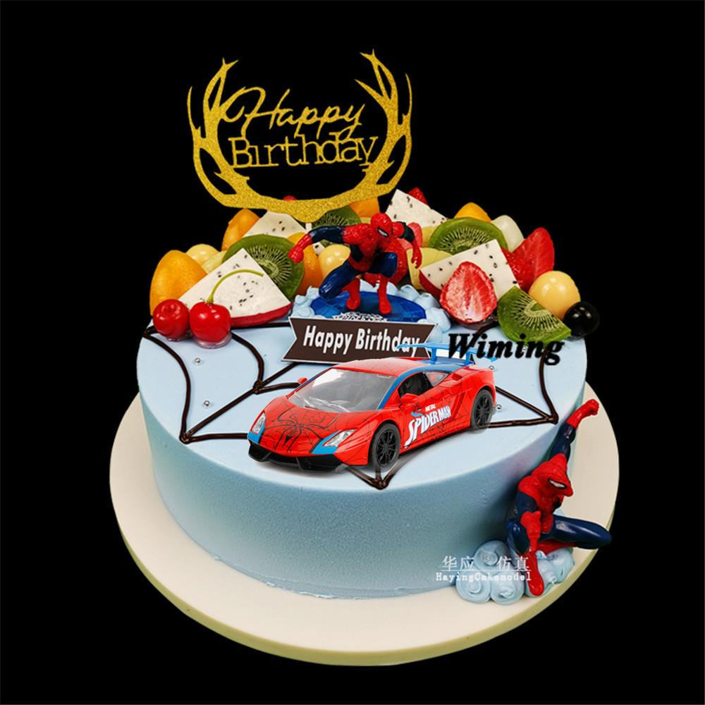 Awesome 2020 Deco Birthday Cake Topper Children Toy Car For Baby Kids Funny Birthday Cards Online Inifofree Goldxyz