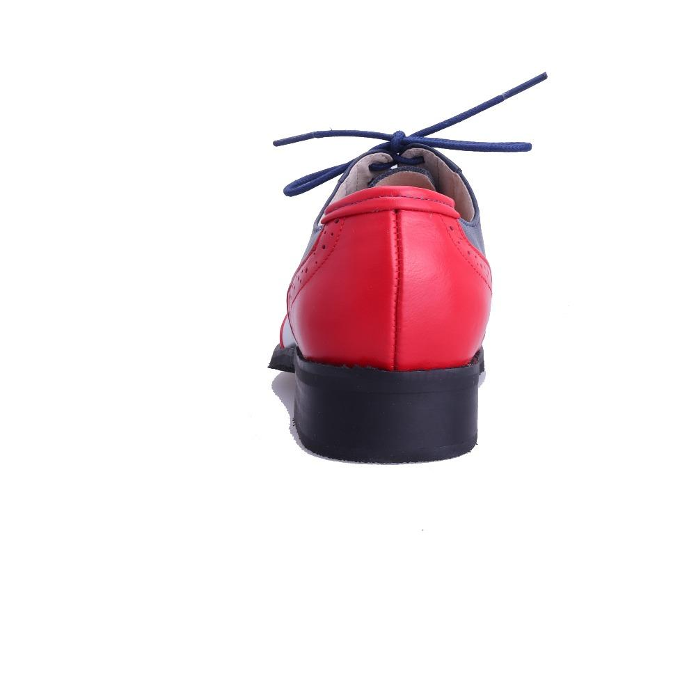 sapatos feitos à mão moda vintage, sapatos oxford Brockden para as mulheres Correspondência de cores de couro genuíno plus size sapatos único 20 da cor