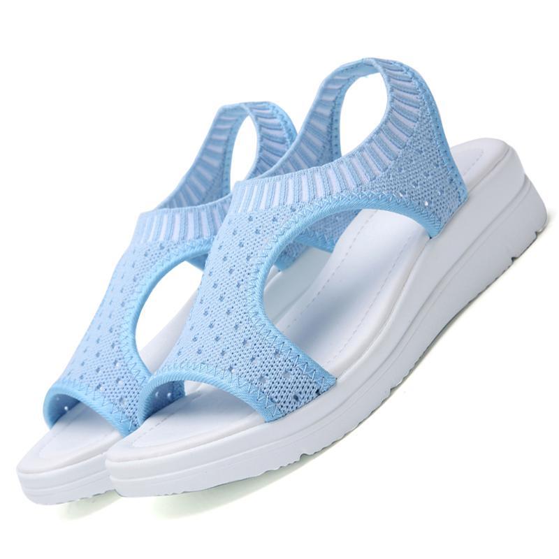 Été Plateforme Sandales Femmes Compensées Chaussures pour femmes 9 couleurs Gladiator Sandales Chaussures pour femmes Sandalias Mujer Bleu EUR Taille 35-44