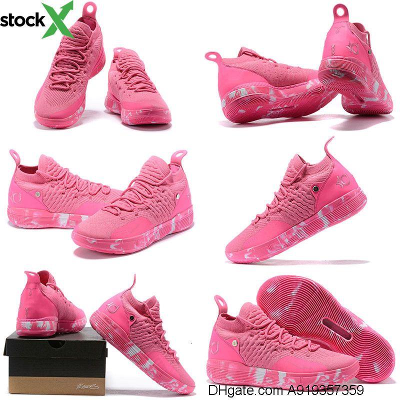 حذاء رخيص من نوع مينز كي دي 11 لكرة السلة للبيع العمة بيرل بينك ريد