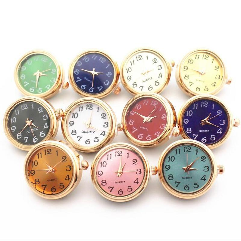 Noosa Glass 18mm Snap Button Jewelry Gold Color Working Watch Button For DIY Snaps Bracelet Jewelry