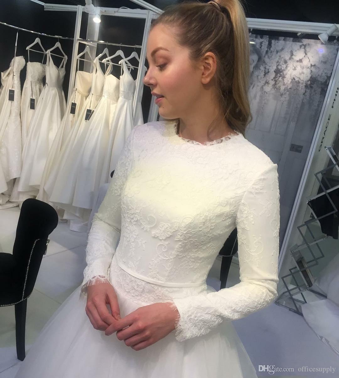 Discount Elegant Arabic Dubai Muslim Wedding Dresses With Long