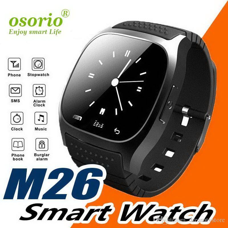 Gli uomini intelligenti orologi M26 con schermo a cristalli liquidi contro pedometro allarme perso Sleeping SmartWatch moda monitor per i telefoni Android iOS