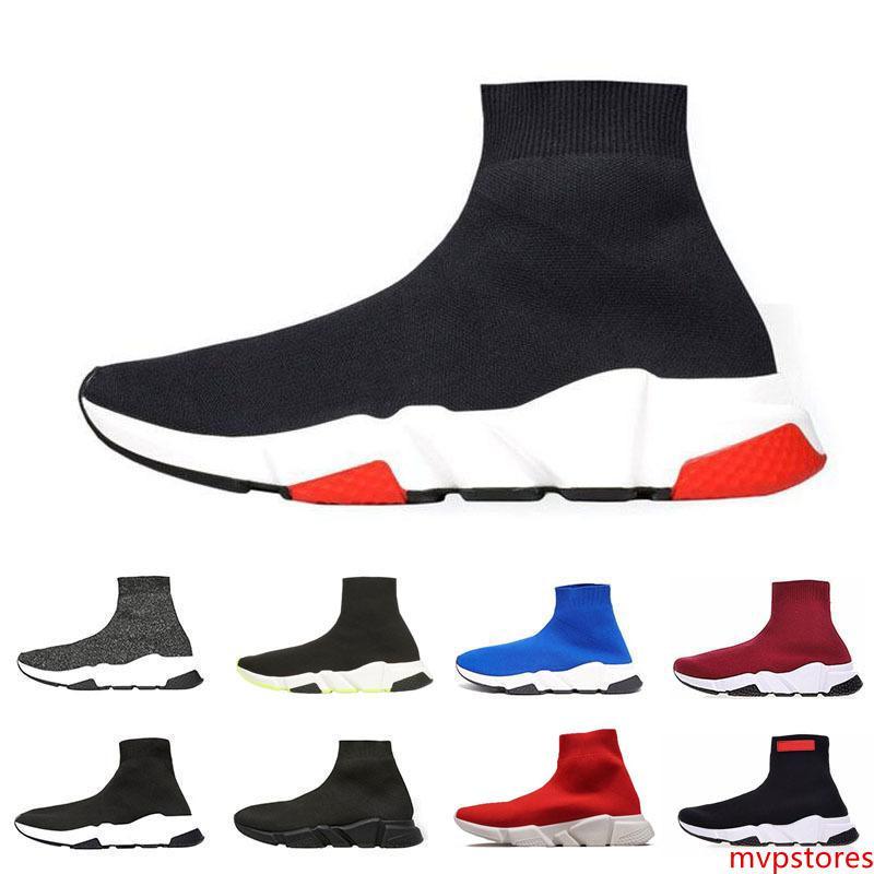Moins cher New chaussettes de marque Chaussures Speed hommes Entraîneur Chaussures de course Vitesse Formateurs Sock course Runners femmes Chaussures de sport Chaussures de luxe Taille 36-45