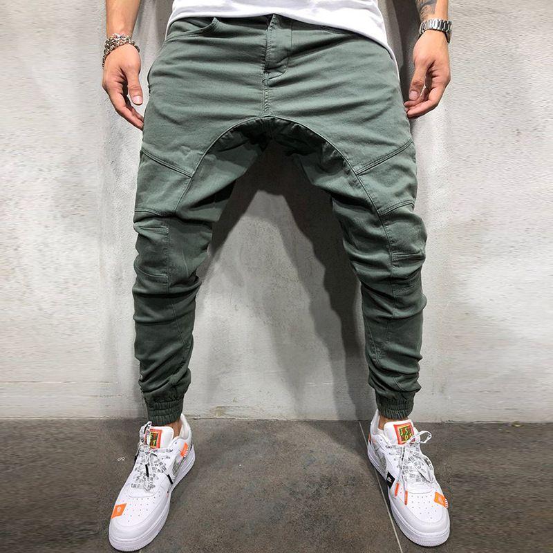 Septhydrogen marca elástico hombres rasgados Skinny Jeans Biker roto Slim Fit Denim pantalones por elástico hombre en la vida Harem estilo pantalones por Jogger