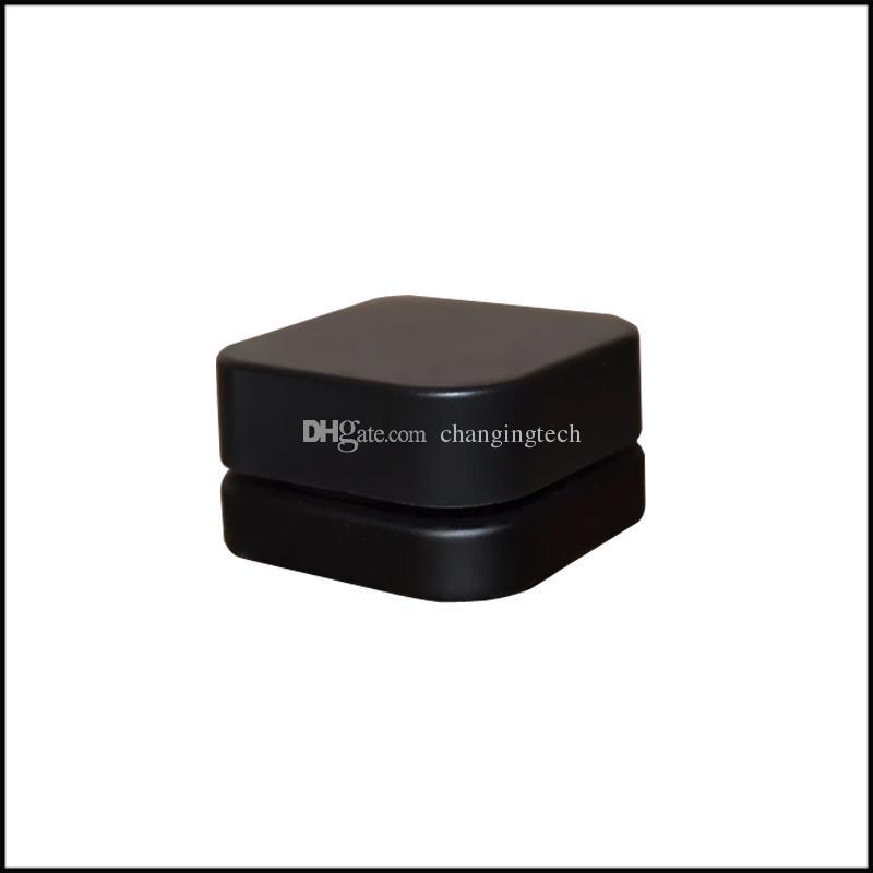 5ml haut de gamme Cube Pot en verre de concentré avec couvercle carré résistant à l'enfant Noir Style Blanc Couleur épais Huile Dab Container Livraison gratuite
