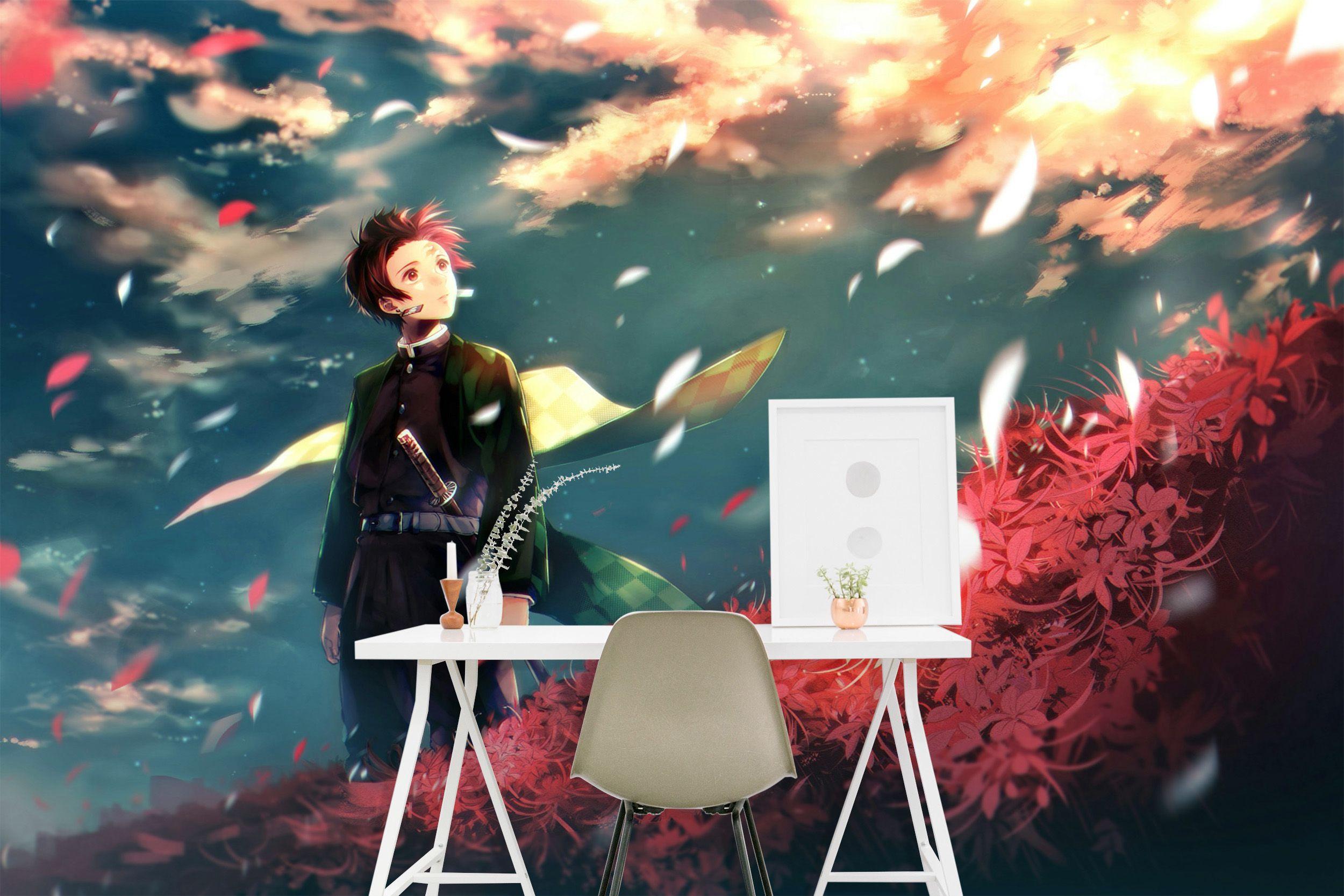 Self Adhesive 3d Kimetsu No Yaiba 0185 Wall Paper Mural Wall Print