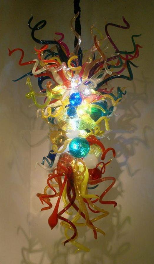 Популярный простой дизайн большой стиль Чихули люстры Бесплатная доставка выдувное стекло художественное освещение украшения для лобби отеля