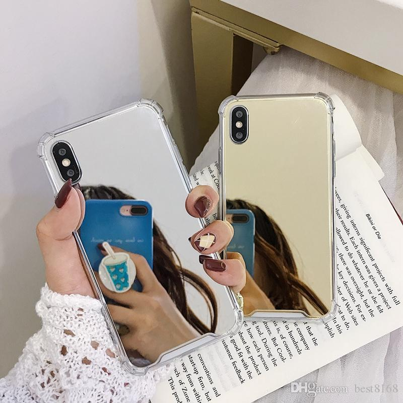 Mirror Shockproof Soft TPU Case For Huawei P30 Lite P20 Pro P10 Mate 10 20 P Smart 2019 Enjoy 7S Silicone Luxury Mobile Phone Cover