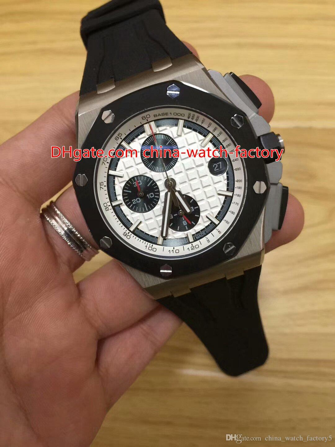 8 Style Topselling High Quality 42mm Offshore 26401RO.OO.A002CA.01 Rubber Strap Bands VK Quartz Chronograph Workin Mens Watch Watches