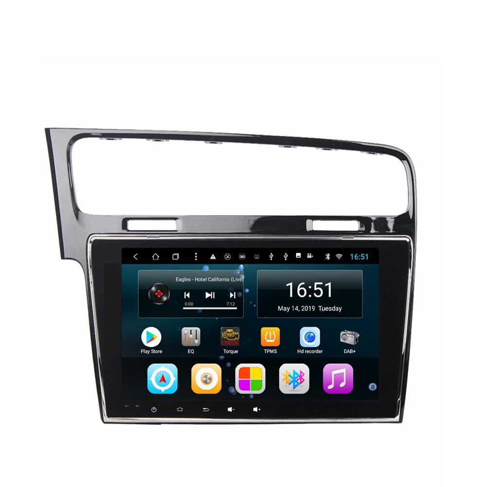 """rádio de carro com suporte Bluetooth Android Google Play Store mp3 mp4 para Golf 7 Golf 7 GTR preto brilhante de 10,1"""" Android 8.1"""