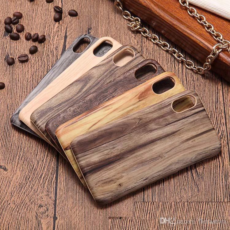الكلاسيكية الرجعية خشبية نمط الخشب بو الحالات الهاتف لآيفون 6 6S 6plus 6splus 7 8 X لسامسونج