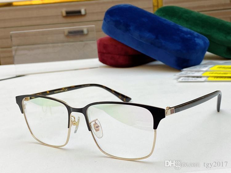 2020 Quadro 56-17-145 opções de cores Gungray Prata moda GG0756OA Men Square Sobrancelha Óculos Qualidade Double-chapeamento caso fullset