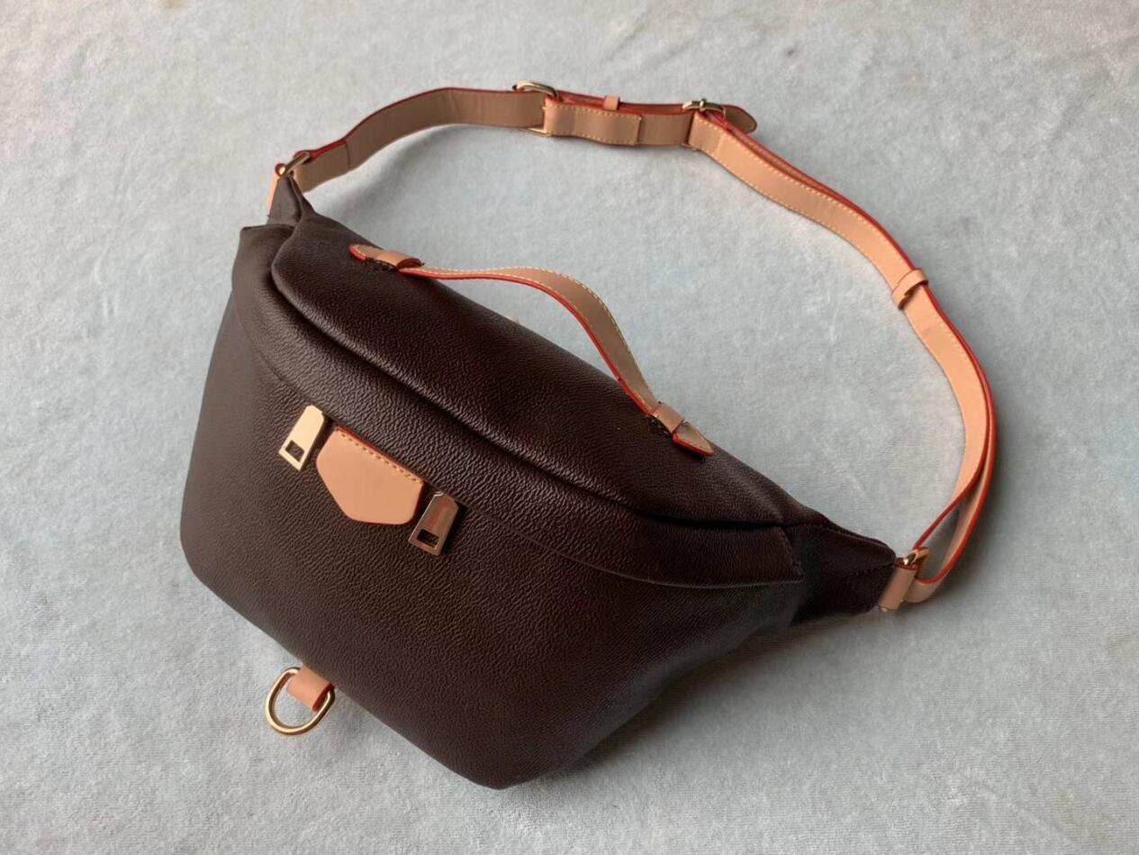 Новые сумки женщин сумки дизайнер сумка талии Фанни пакеты поясной сумки повелительницы Известные марки Chest Сумочка для женщин с 2 полосами