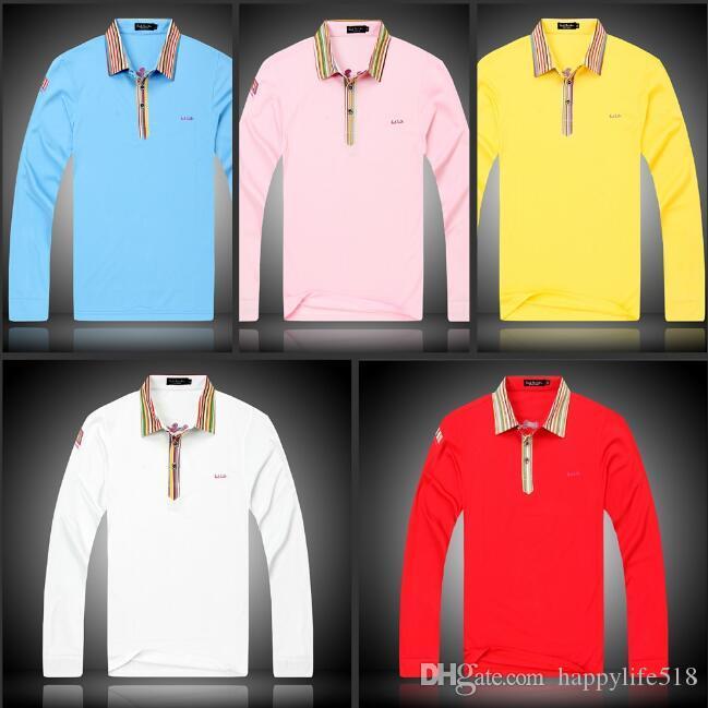Oxford Dress Shirt Men Business Casual Mens Long Sleeve Shirts Office Slim Fit Formal Camisa White Blue Pink Brand Fashion M-XXL