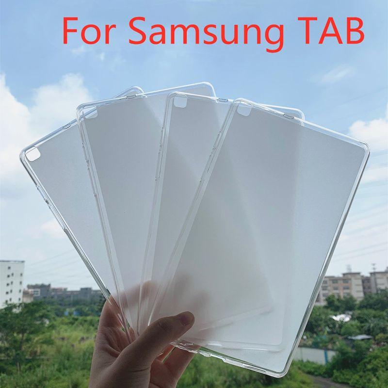 Matte Glossy Soft Gel TPU Case For Samsung Galaxy Tab E A S6 Lite T560 T377 T280 T830 T590 P200 T510 T720 T860 T290 P610 T307