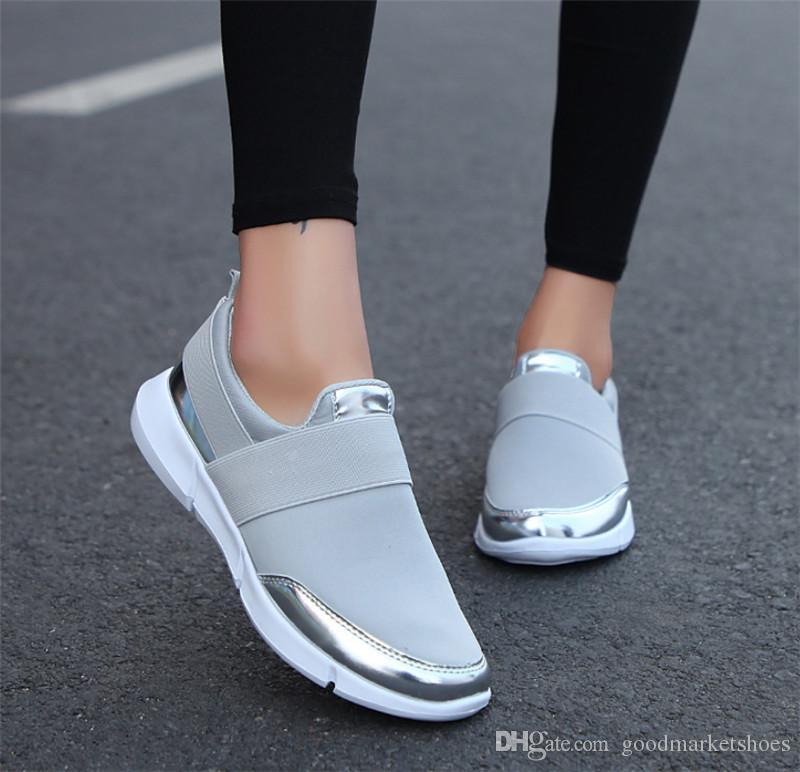 2020 Hot Venda Novo tamanho grande senhoras tênis verão respirável jardas selvagens leve sapatos moda casual das mulheres por atacado