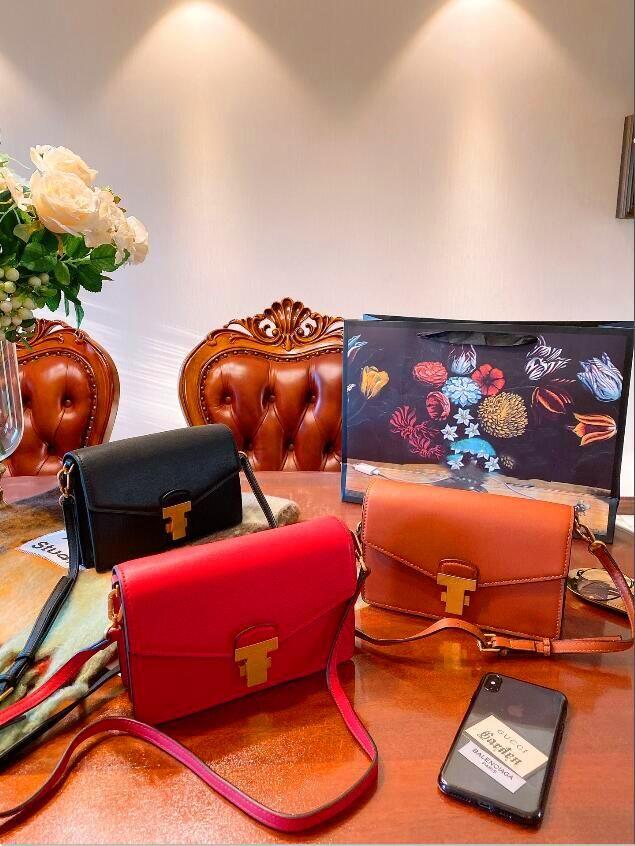 Cuero Cross-Bod PU Spring / Summer Leather New Fashion 2019 Portable Versátil Versátil Bolsa Versátil Pequeña Moda Cuadrado Cross Single Hombro Ducn