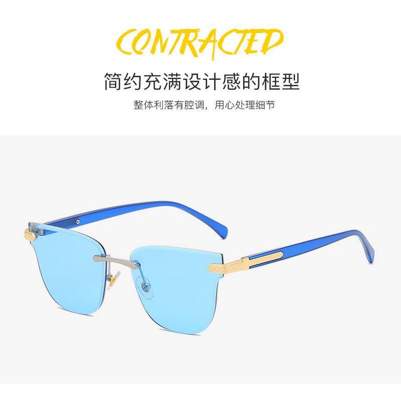 Gradyan çerçevesiz güneş gözlüğü Moda Kadınlar Çerçevesiz Güneş Büyük Çerçeve Degrade Okyanus Piece gözlükler Degrade çerçevesiz xhnf3 dyLyl