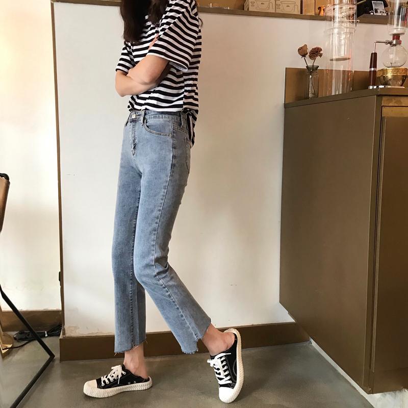 Jinyilai azul Harlan Peinar blanca Jeans Mujer