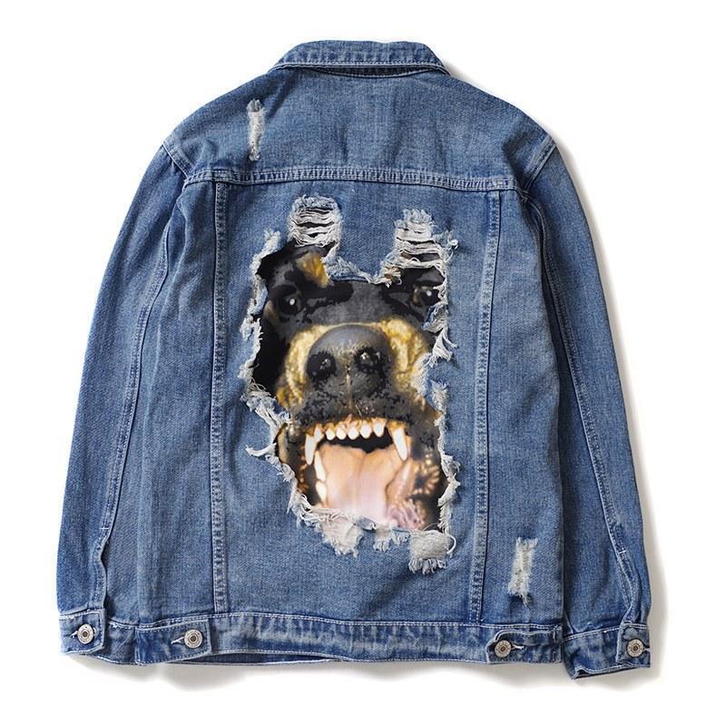 Mens Stylist Denim Jacket Men alta qualidade mulheres Coats Azul Moda Mens Stylist Jacket Hip Hop