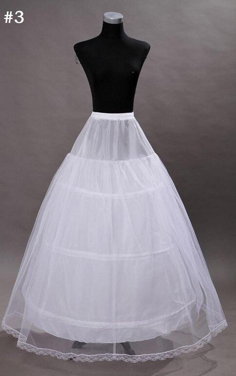 In magazzino Sottoveste in crinolina per abito da ballo Abito taglie forti gonna da sposa economici accessori da sposa in vendita