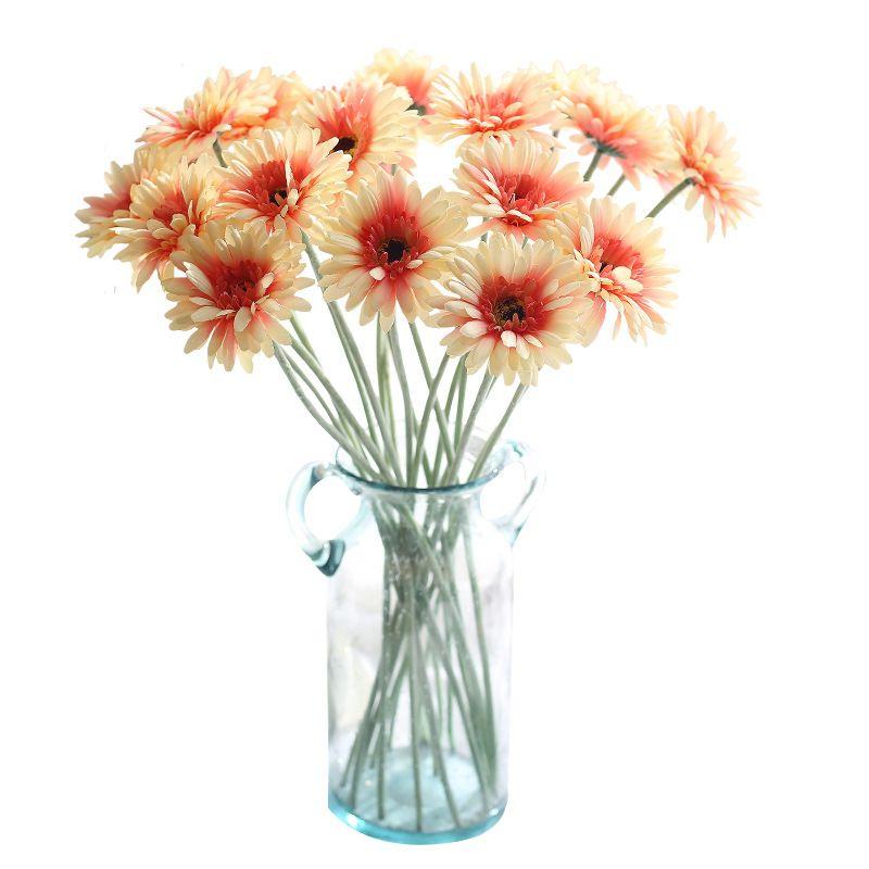 "Colorful Artificial Flowers Gerbera with Stem Silk Fake Flower Home Decor Wedding Favor Photography Props 21"" 100PCS GF10004"