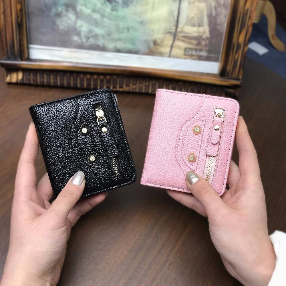 Women Small Coin Purse Lady Slim Cat Wallet Mini Female Thin Money Cash Pocket With Card Holder Ladies Purse Cute Wallet Girls Y19052302